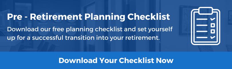 Pre - Retirement Planning Checklist Form Header